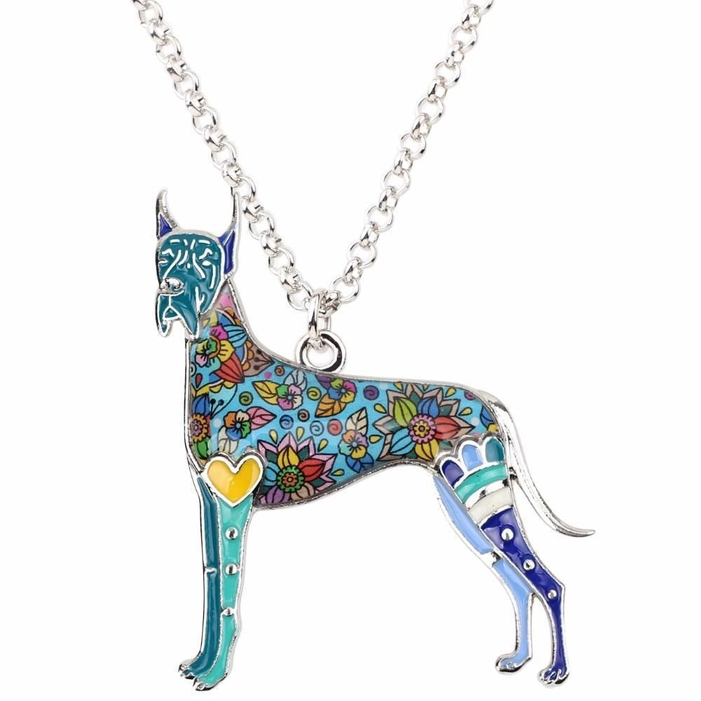 Pin By Fur Baby Dog Cartoons On Great Dane Unique Necklaces