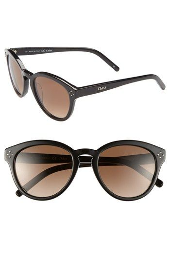 ac3e585d8be Free shipping and returns on Chloé  Boxwood  50mm Sunglasses at Nordstrom.com.  A keyhole bridge lends classic contour to stylish sunglasses with gradient  ...