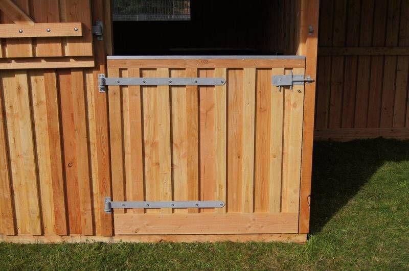 Stalltüren Selber Bauen boxentür zweiteilig untere hälfte - standardausführung stalltüren