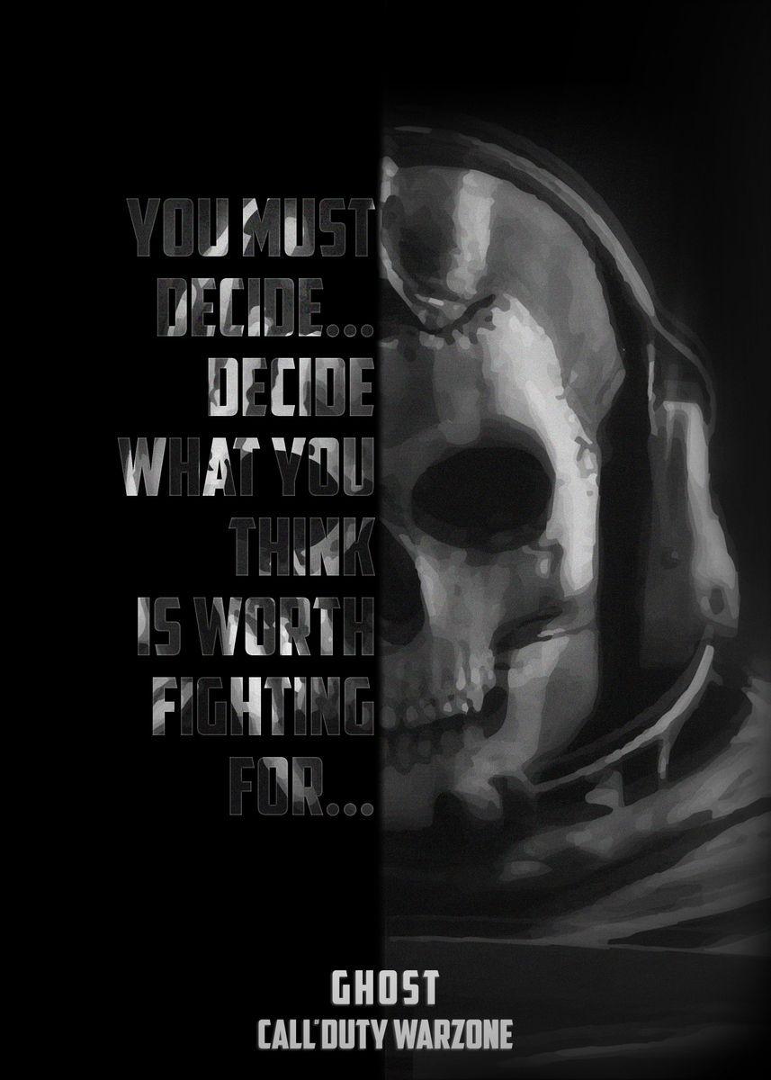 'Call of Duty Warzone Ghost' Metal Poster Print - Antonis Asbah | Displate