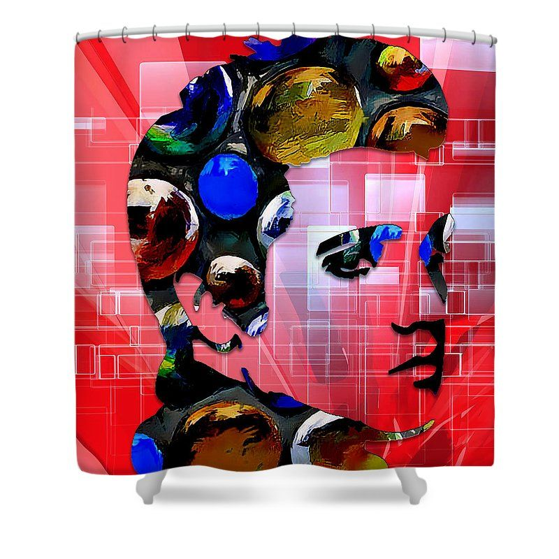 Elvis Presley Shower Curtain By Marvin Blaine This Shower Curtain