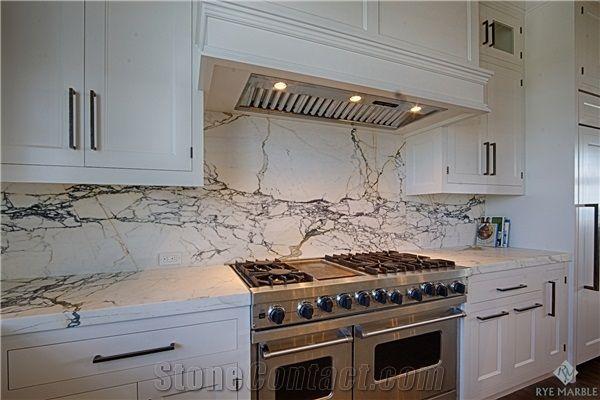 Calacatta Paonazzo Marble Kitchen Countertop Backsplash