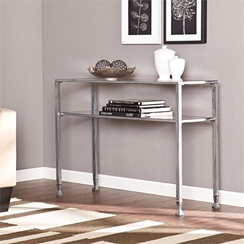 Pemberly Row Console Table in Silver and Black Sofa Pinterest
