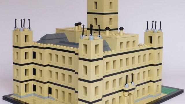 Wow... Downton Abbey :: HighClere Castle out of Legos!! LEGO Architecture
