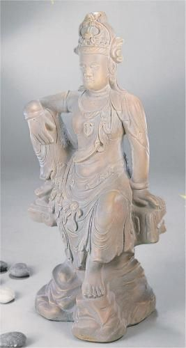 Seated Kuan Yin Large Scale Cast Stone Statue