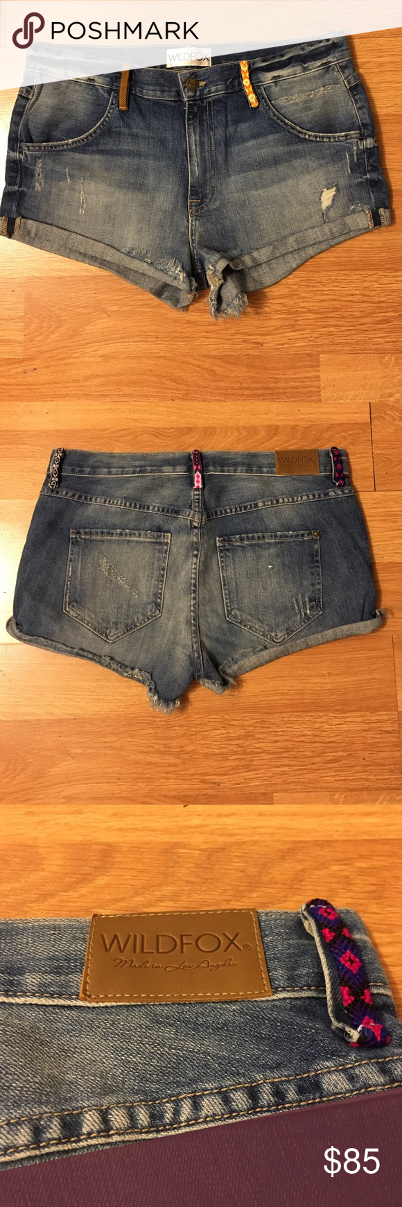 """Wildfox shorts Wildfox denim shorts-style is """"The Michelle slouchy boyfriend short"""". Wash Name is """"kismet"""", size is 28. Excellent condition. Wildfox Shorts Jean Shorts"""