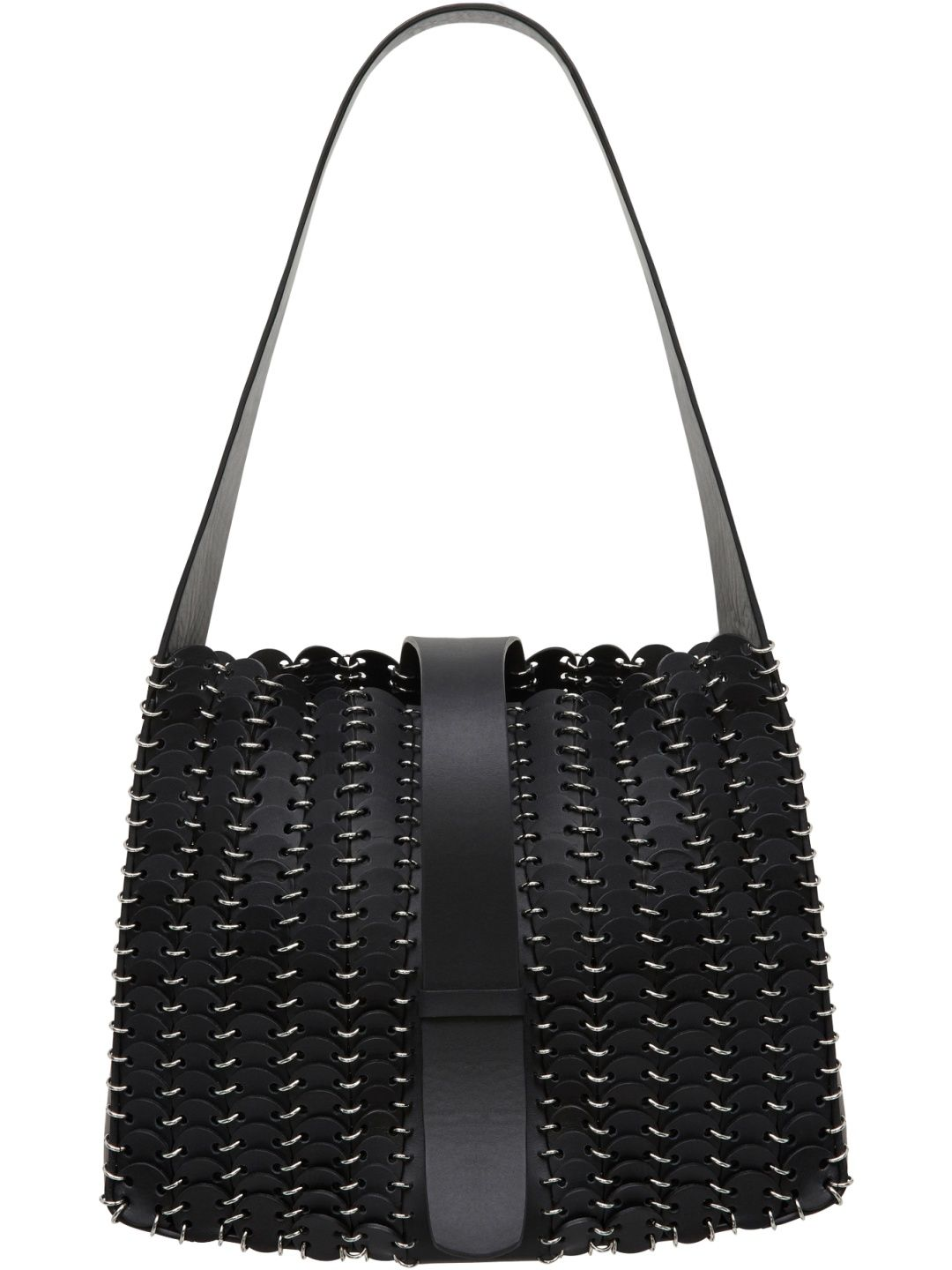 Tote Bag On Sale, Black, Leather, 2017, one size Paco Rabanne