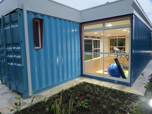 Home Gym Shipping Container Gym Http Amzn To 2fsi5xt Container House Container House Plans Shipping Container