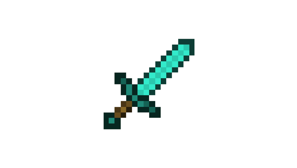 Minecraft Diamond Sword Png