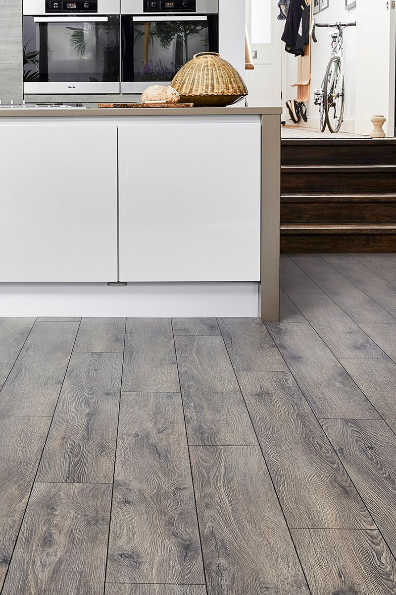 Series Woods 12mm Laminate Flooring Lazio Oak Grey Laminate Flooring Laminate Flooring In Kitchen Flooring
