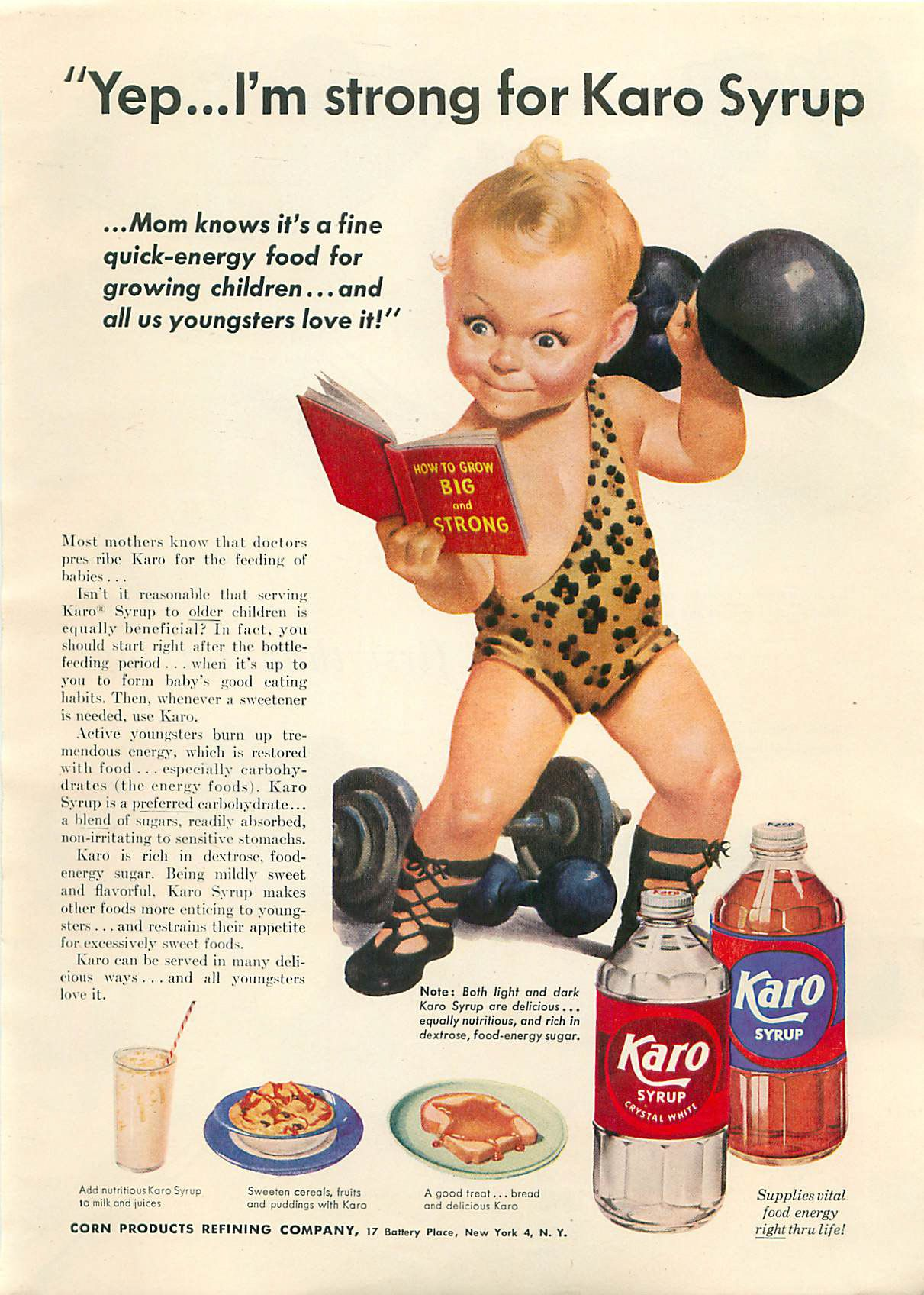 Vintage porn mag adverts Vintage Magazine Grocery Ads - Baby Pumping Iron from Today's Woman November 1952