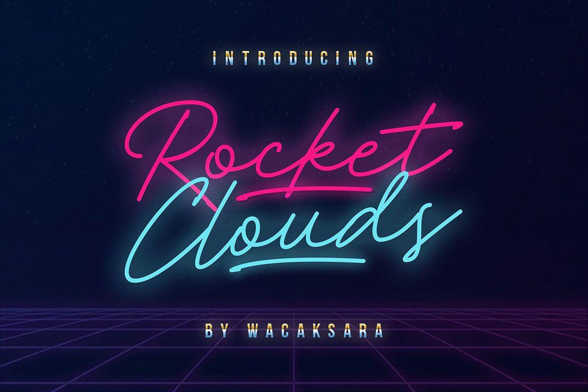 Free Rocket Clouds Script Font Best free fonts