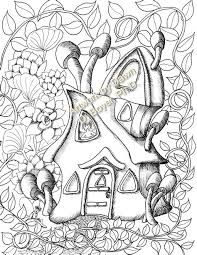Image result for fairy tree house coloring pages | Fairy ...