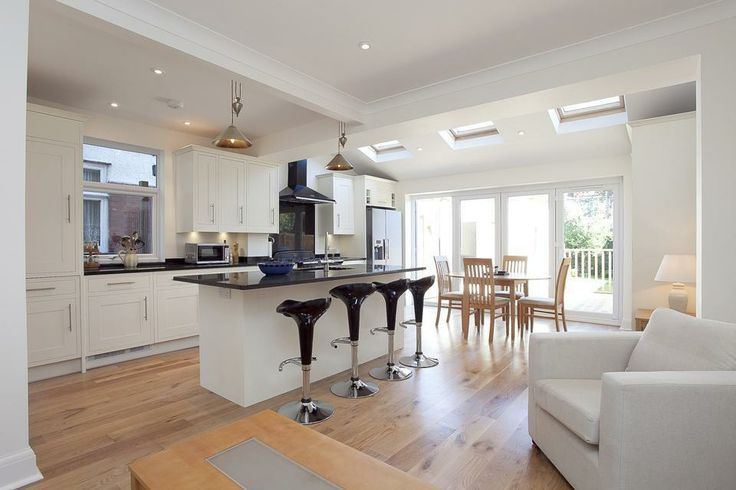 Kitchen Diner Extension Ideas.Combine The Kitchen With The Dining To Obtain Extra Space For