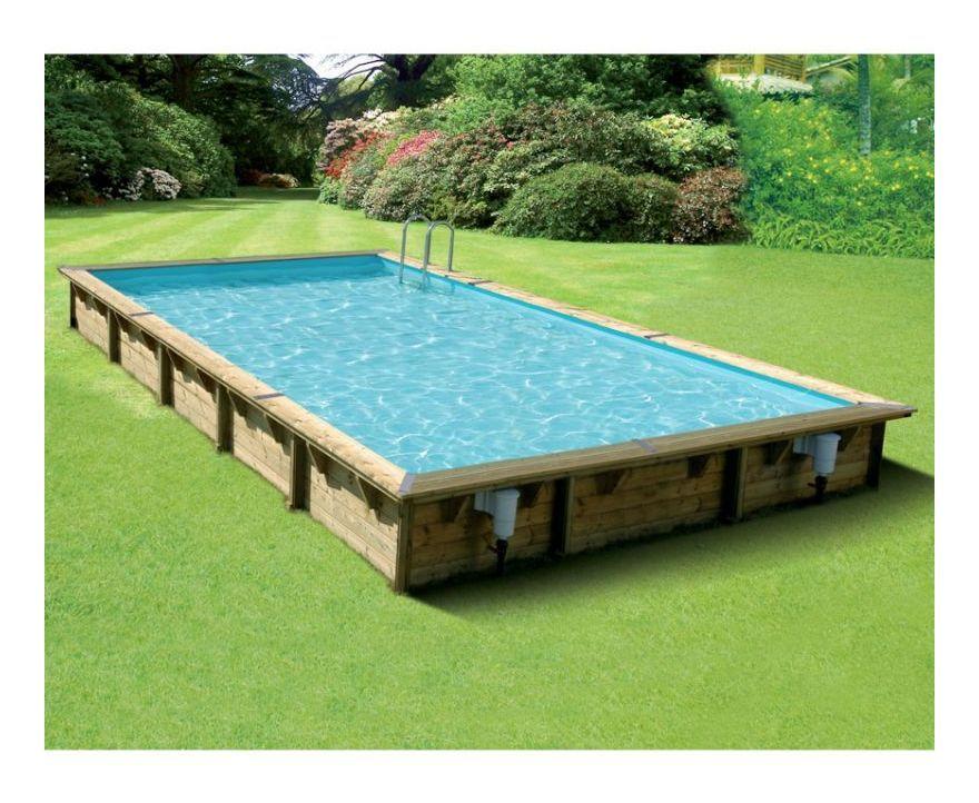 WEVA Piscine bois carrée 3x3 m Hauteur 1,20 m piscine Pinterest