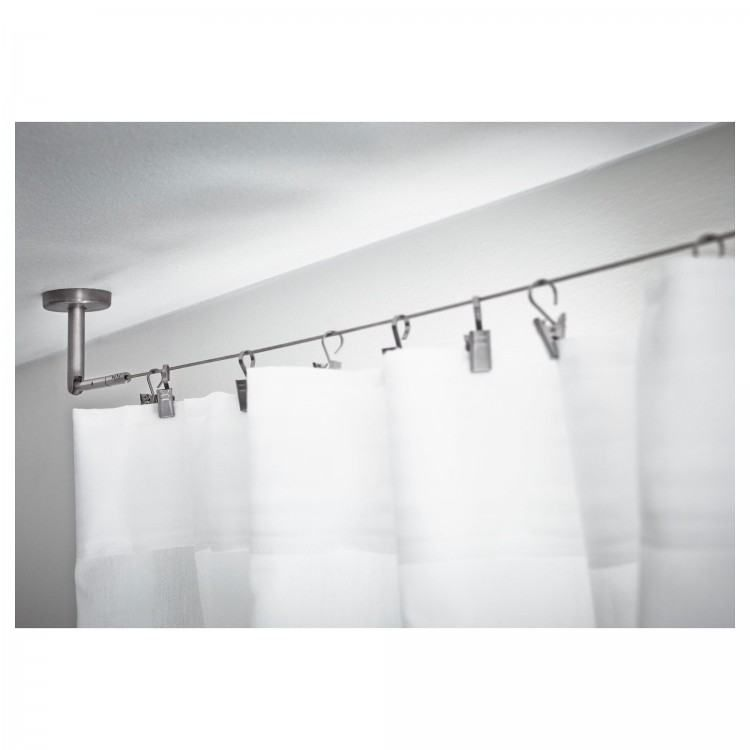 Removable Outdoor Shower Curtain Rod Hang Curtains From Ceiling