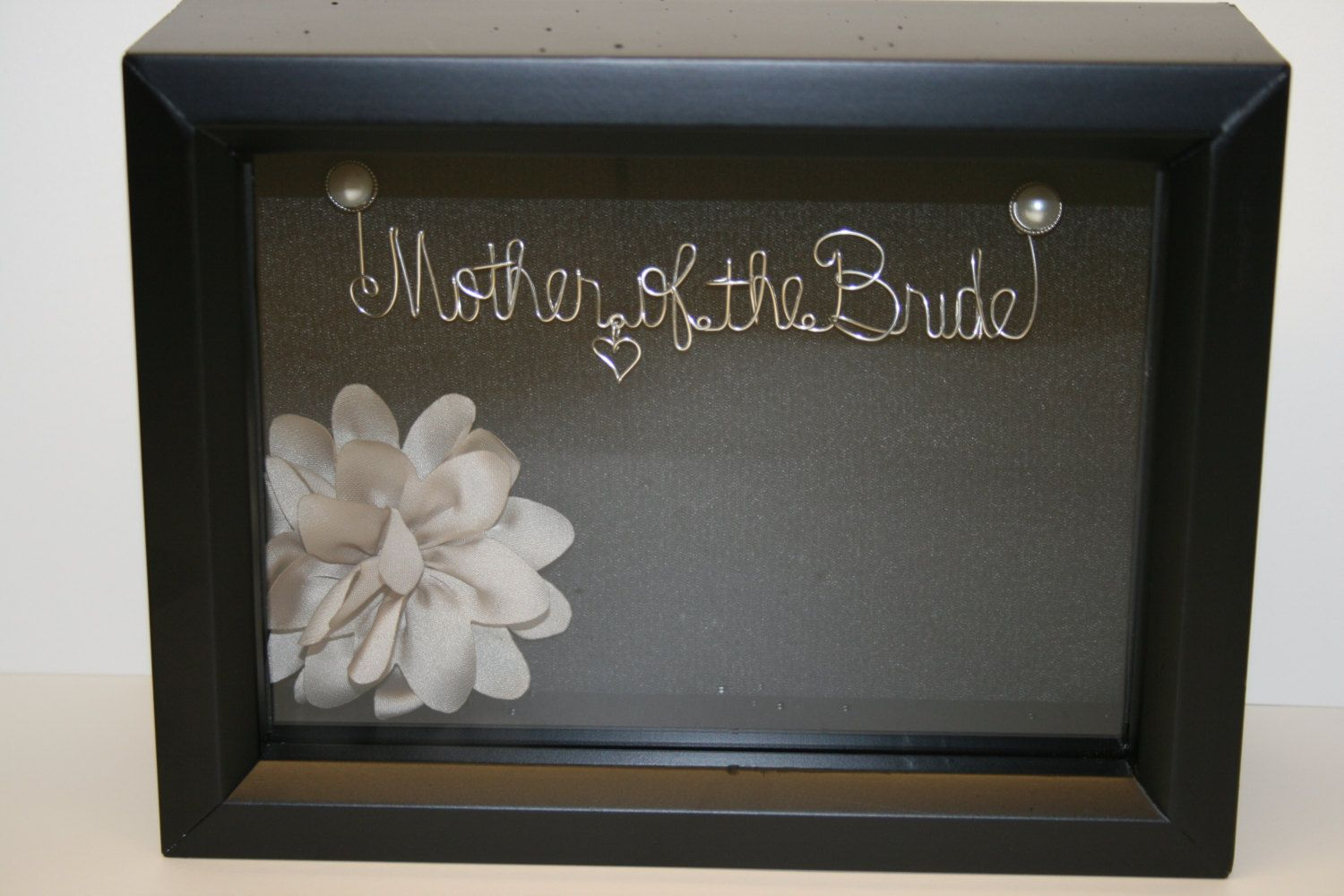 Mother Of The Bride Wedding Gift Idea Wire Name Unique Shadow Box Keepsake 59 95 Via Etsy