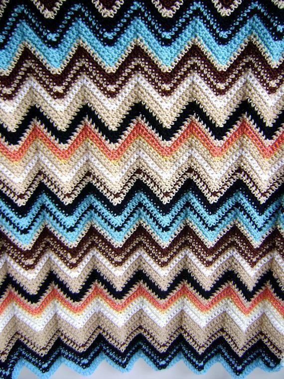 Missoni Inspired Baby Blanket | crochet patterns | Pinterest