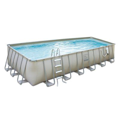 Proseries Above Ground Pool Package 12x24 Ft Rectangle 52 Inch