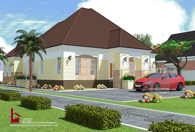 4 Bedroom Bungalow (RF 4014) - | Bungalow house design ...