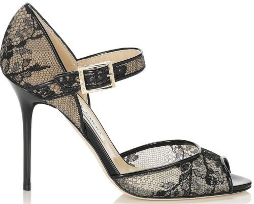 dbe12adb05da Jimmy Choo Lace Mary Jane Peep Toe Pump Black 38.5 Ankle Strap Heels . Get  the must-have pumps of this season! These Jimmy Choo Lace Mary Jane Peep Toe  Pump ...