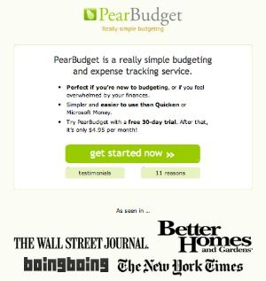 pearbudget is a simple online budgeting program enter to win an annual subscription on home