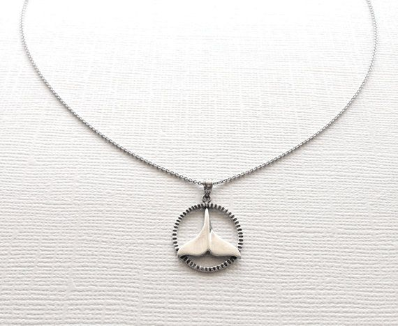 Silver Dolphin Tail Necklace