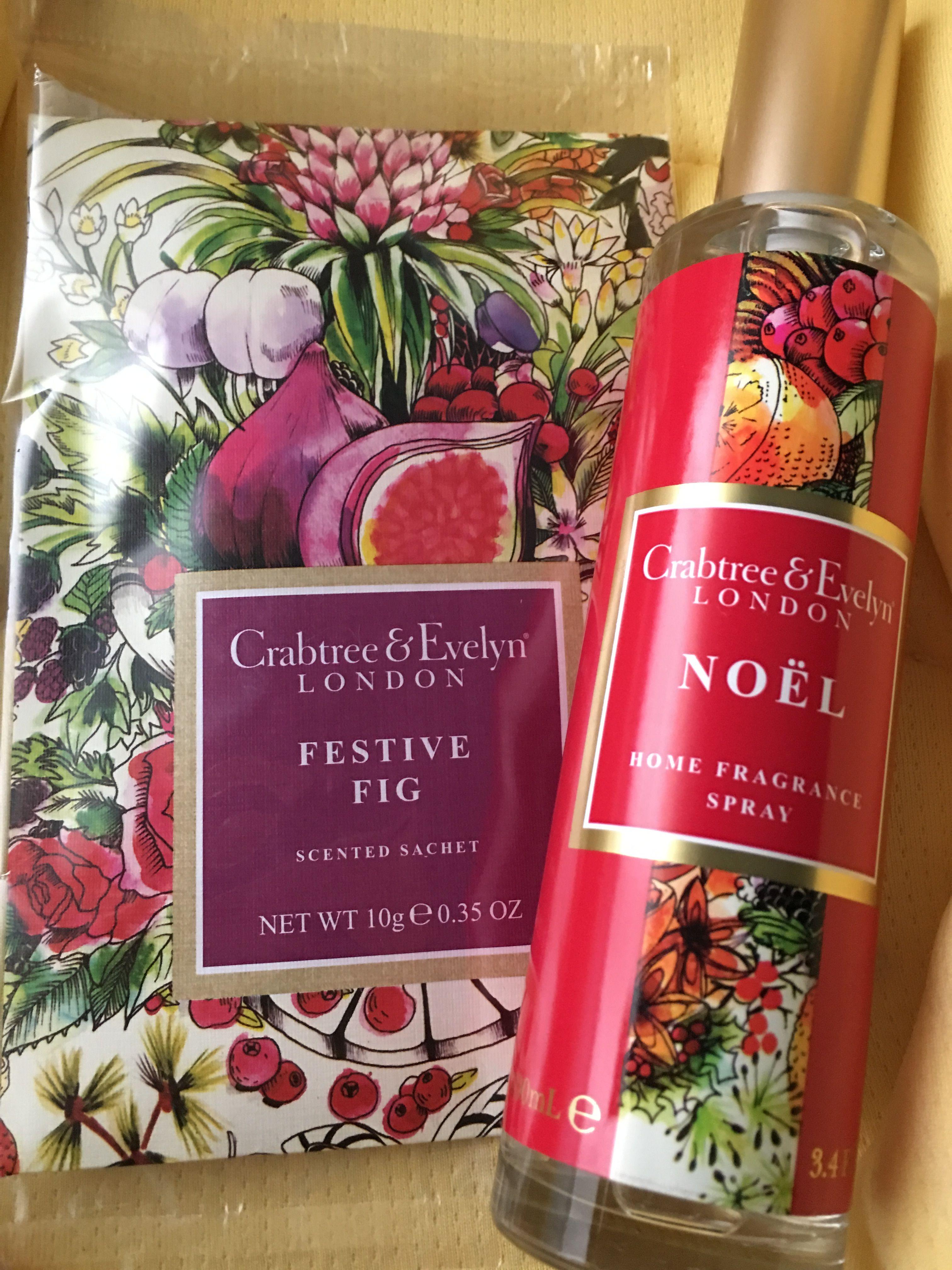 Sachet perfumado Festive Fig o ambientador en spray Noel home fragance edición limitada#Navidad 2016# crabtree y Evelyn