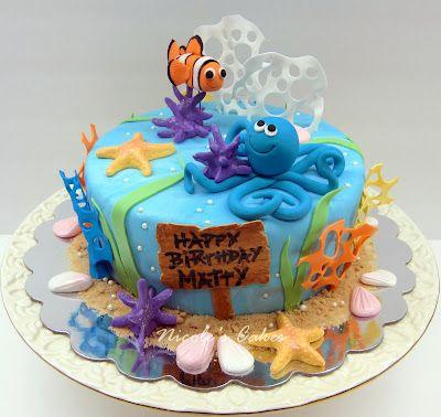Sea Animals Cake Jacksons 1st Pinterest Animal cakes Cake