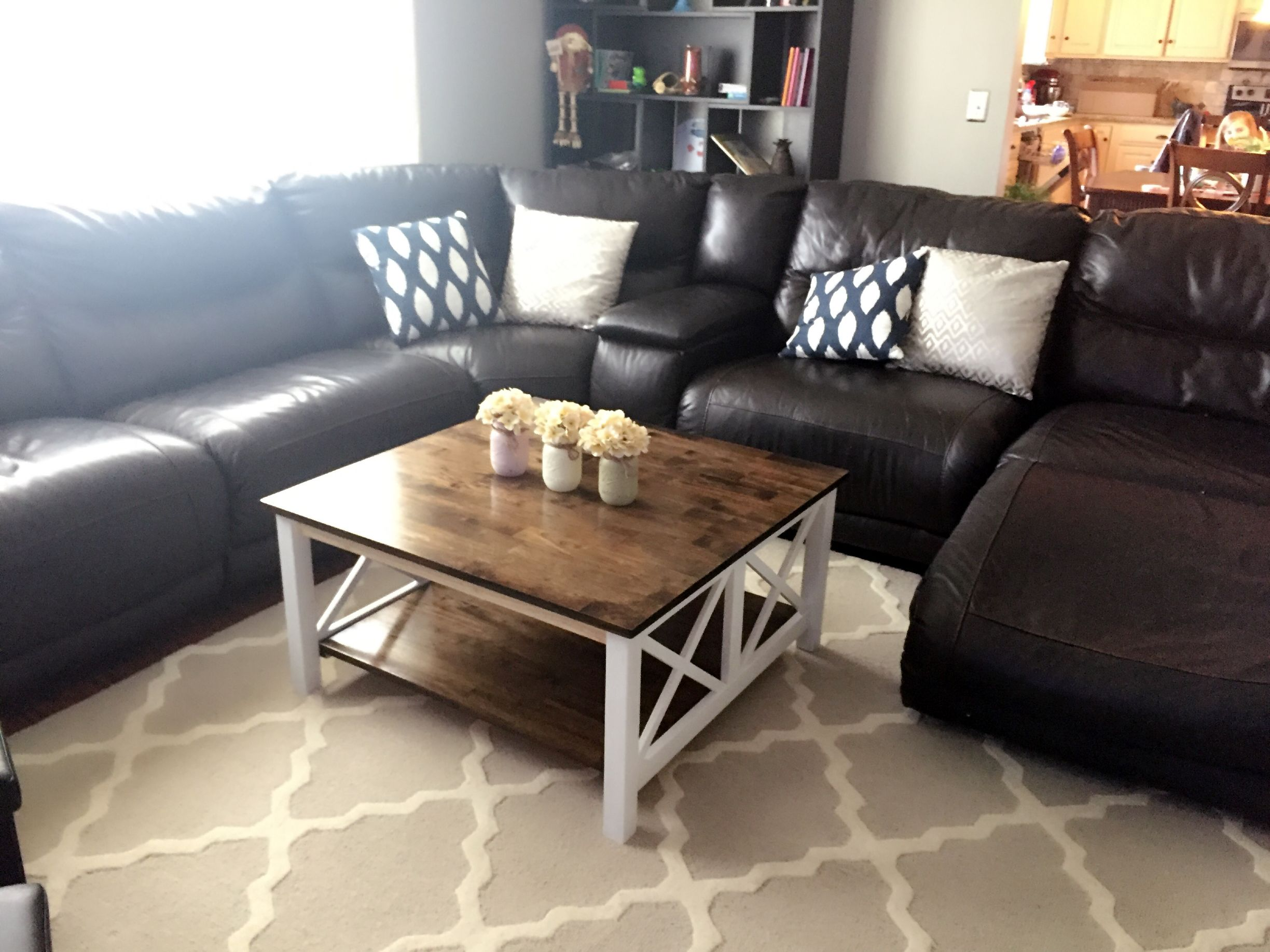 Farmhouse coffee table purchased the hampton unfinished