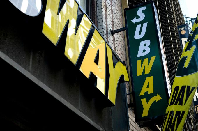 Subway sandwich tests mobile app in NYC Subway sandwich
