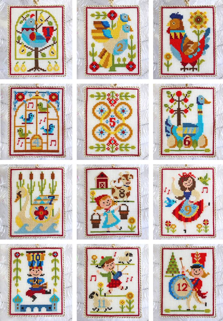 12 Days Of Christmas Cross Stitch.The 12 Days Of Christmas Cross Stitch Ornaments Pattern By