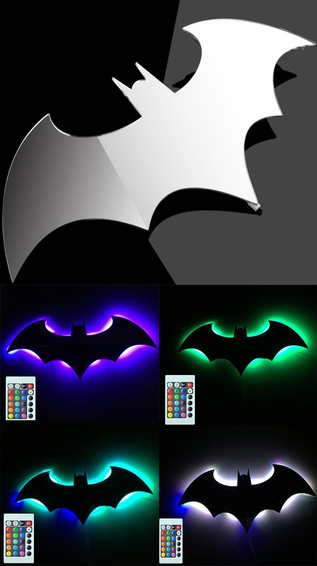 Bat Led Wall Lightcolorful Mirror Lightremote Control