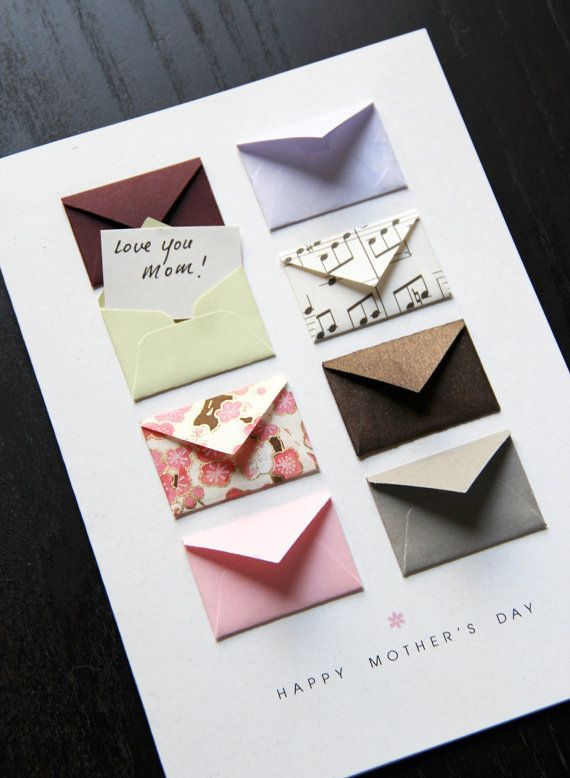 Mother's Day Card Music Notes and Cherry Blossoms - Tiny Envelopes Card - #blossoms #card #cherry #cherryblossom #Day #Envelopes #Mothers #Music #Notes #Tiny #musicnotes