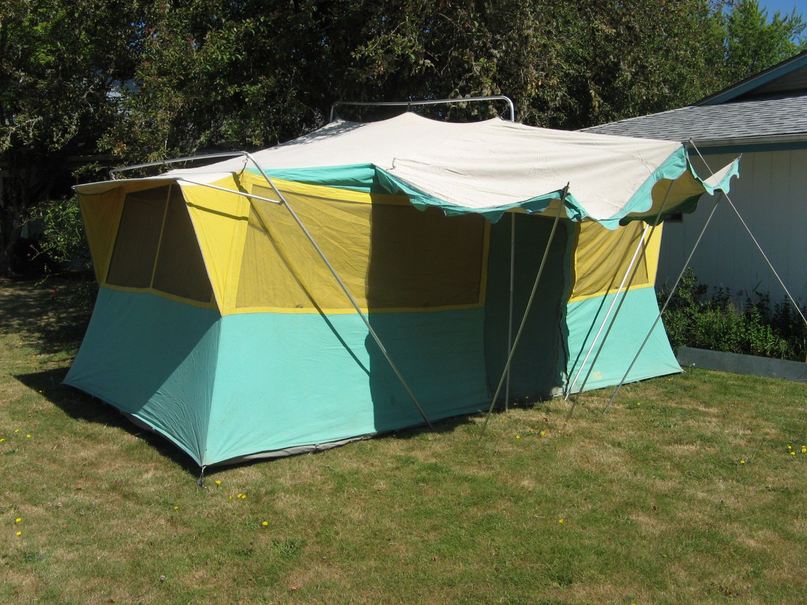 1950s CLASSIC TED WILLIAMS Canvas Cabin Tent lg. 10x17u0027 VINTAGE SEARS HILLARY & 1950s CLASSIC TED WILLIAMS Canvas Cabin Tent lg. 10x17u0027 VINTAGE ...
