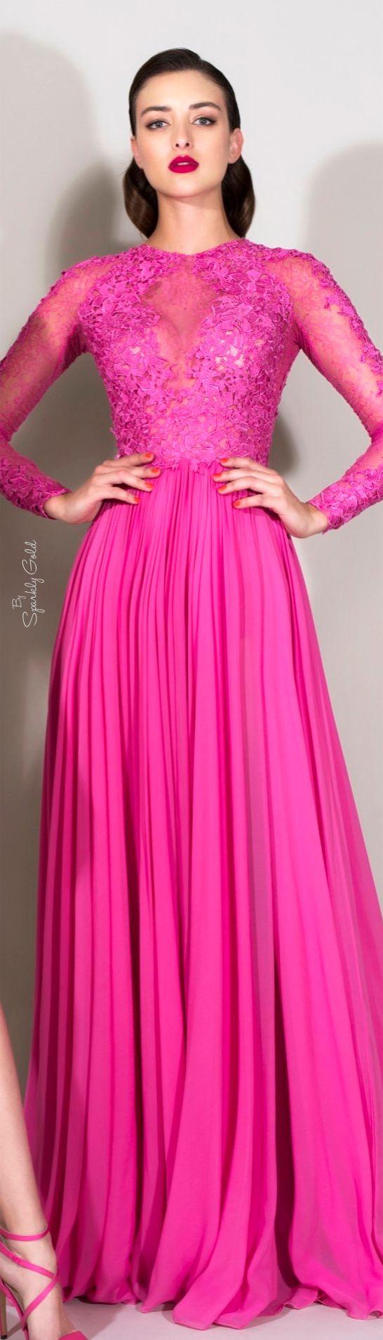 Zuhair Murad Resort 2016   Hot pink dresses   Pinterest   Vestidos ...