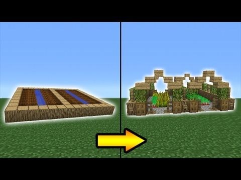 Minecraft Tutorial How To Transform A Village Farm YouTube - Minecraft haus bauen fur profis