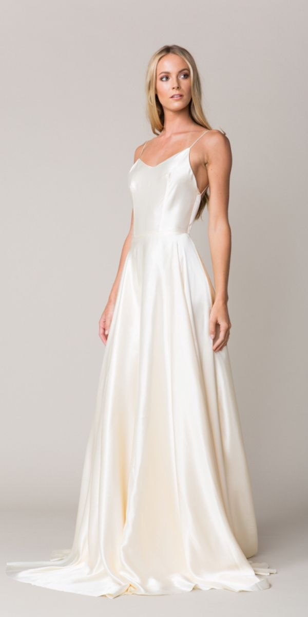 24 Excellent And Elegant Silk Wedding Dresses | Simple Wedding ...