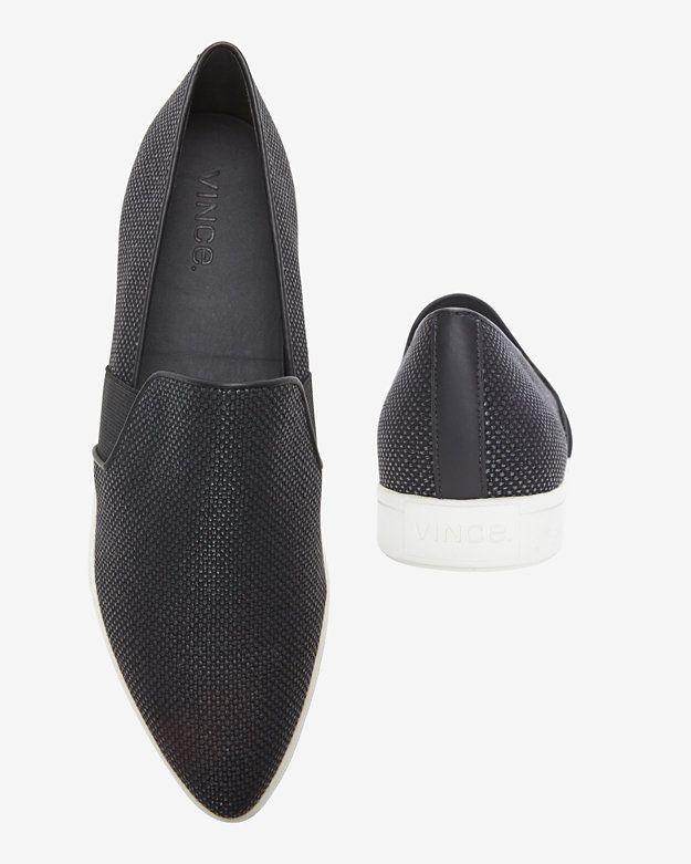 Vince Pierce Pointy-Toe Woven Sneaker