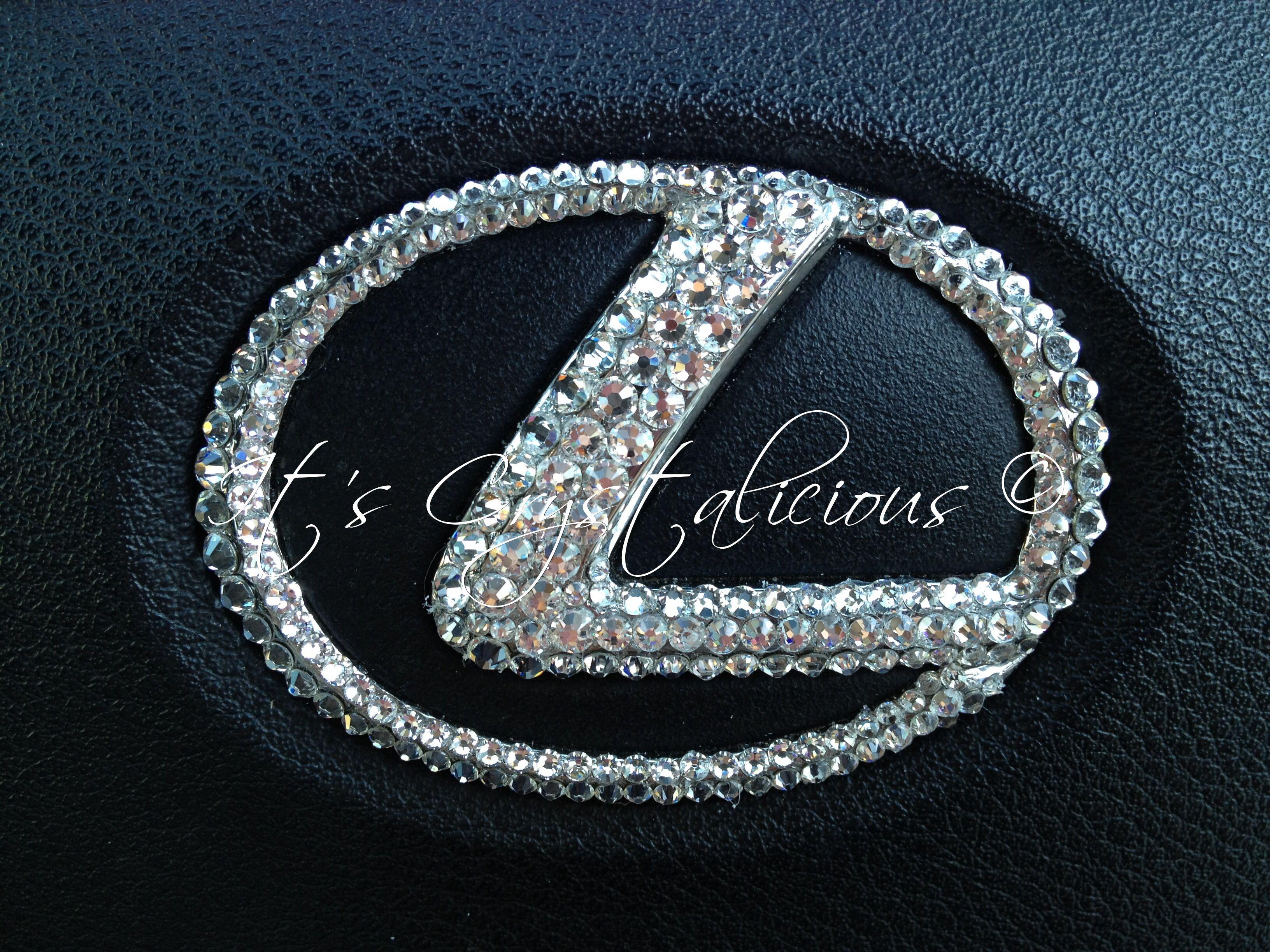 Bling SWAROVSKI Embellished Steering Wheel Badge LEXUS - Custom car bling decals