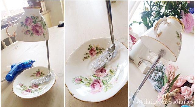 floating tea cup tutorial deko schleifen fr hlingserwachen und schleifen. Black Bedroom Furniture Sets. Home Design Ideas