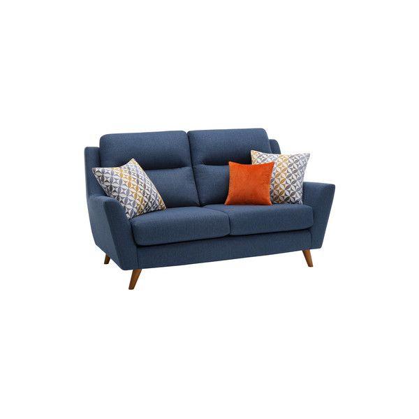 Blue Fabric Sofas 2 Seater Sofa Fraser Range Oak Furnitureland In 2019 Products Fabric Sofa Sofa 2 Seater Sofa