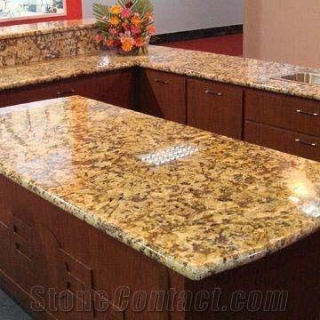Giallo Fiorito Granite Countertop Pictures | Giallo Fiorito Granite  Countertops, Yellow Granite Countertops