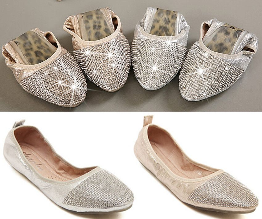 Aliexpress Por Silver Flat Shoes For Wedding In
