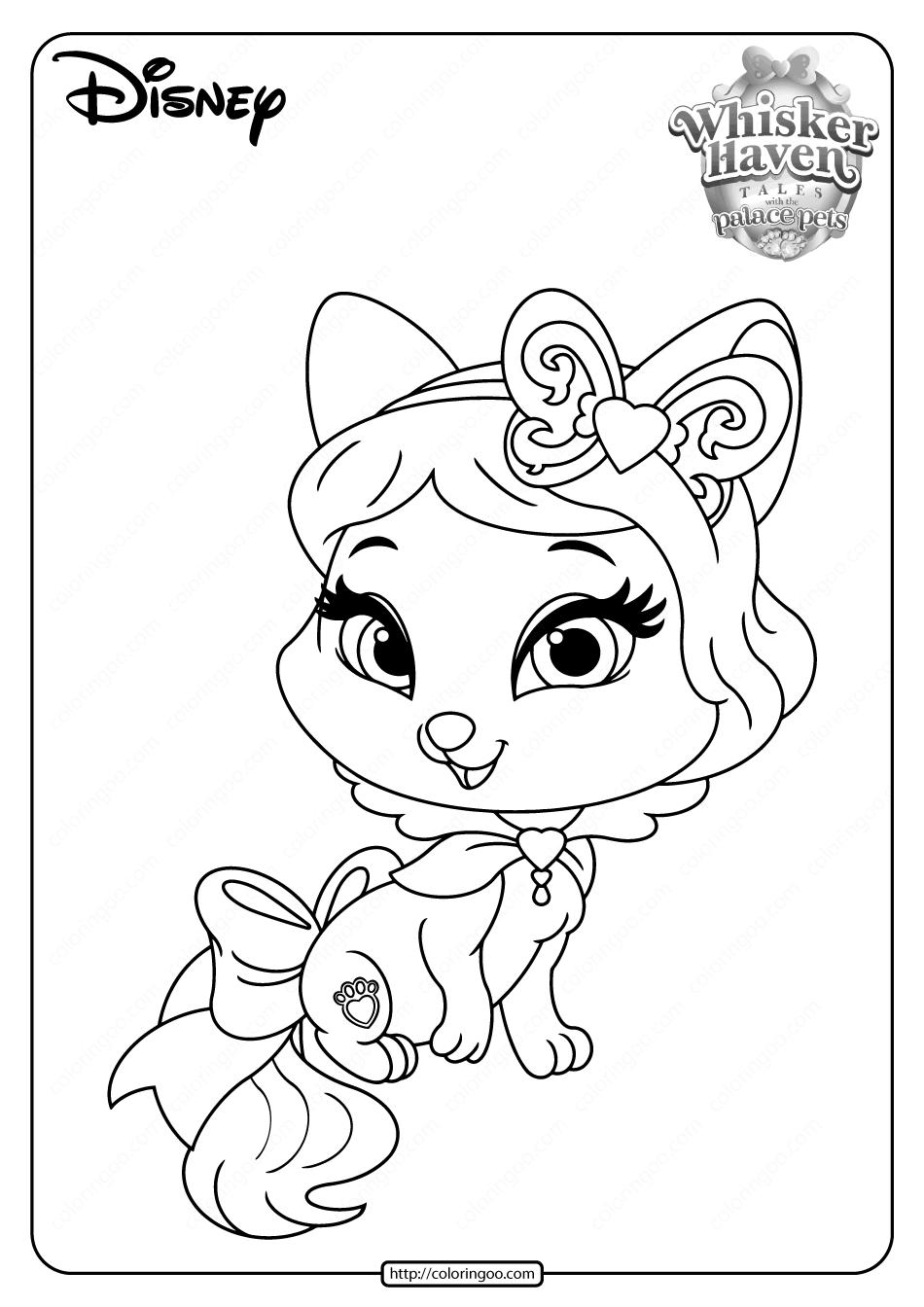 Printable Palace Pets Honeycake Pdf Coloring Pages Palace Pets Coloring Pages Disney Princess Palace Pets