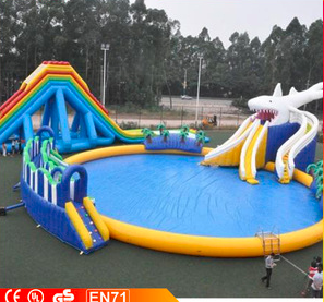 Ultimate Entertainment Inflatable Water Park Water Toys For Lake Backyard Water Parks Inflatable Water Park Cool Pool Floats