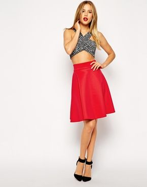 97f558ac4196 ASOS Knee Length Skirt In Scuba | Style | Fall & Winter | Skirts ...