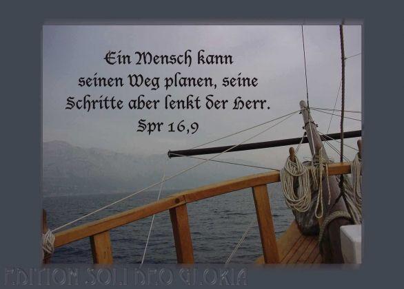 Christliche Postkarte 27 Sprüche Weg Meer Schiff