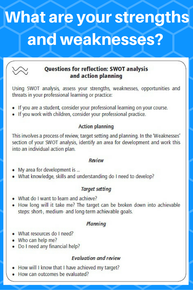 teaching strengths and weaknesses Typical interview questions for esl teaching position include your strengths and have a look at the following  the strengths and weaknesses of alternative.