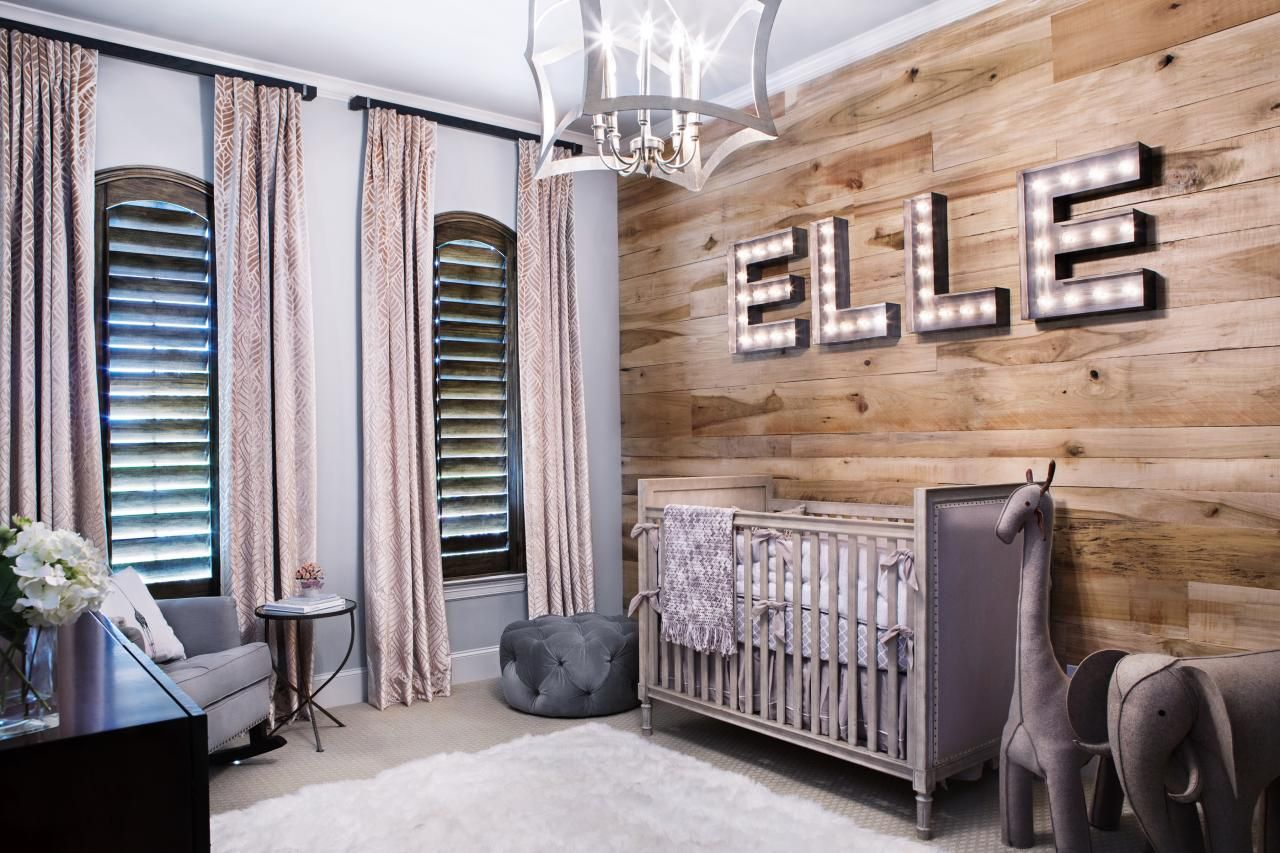 Beautiful Shiplap Wall In Baby Nursery